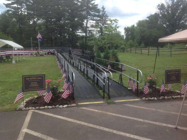 Amramp provides wheelchair access for Vietnam Moving Wall in Hatfield, PA June 27 - July 1, 2013