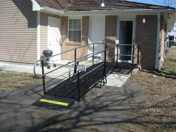 Wheelchair ramp rental for a veteran in Nashville, TN