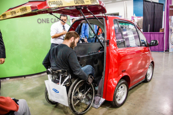 One Abilities Expo exhibitor demonstrating the most cutting edge assistive technology