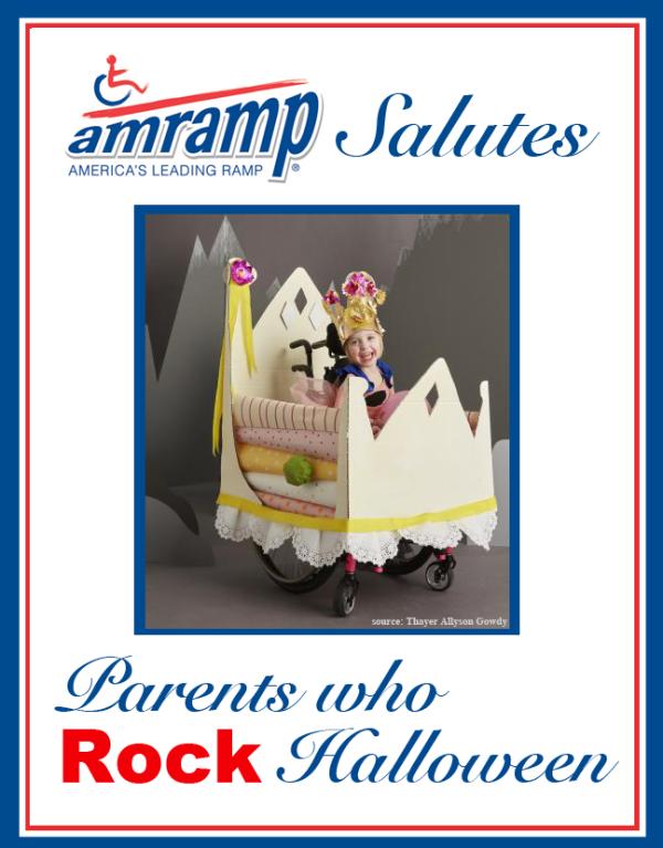 Amramp Salutes Parent Who Rock Halloween Award for Princess and the Pea Wheelchair Halloween Costume