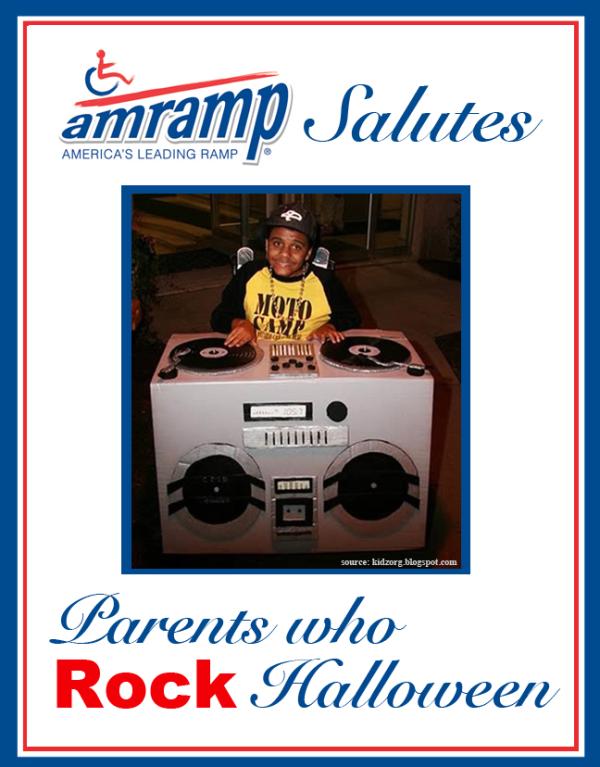 Amramp Salutes Parent Who Rock Halloween Award for DJ Wheelchair Halloween Costume