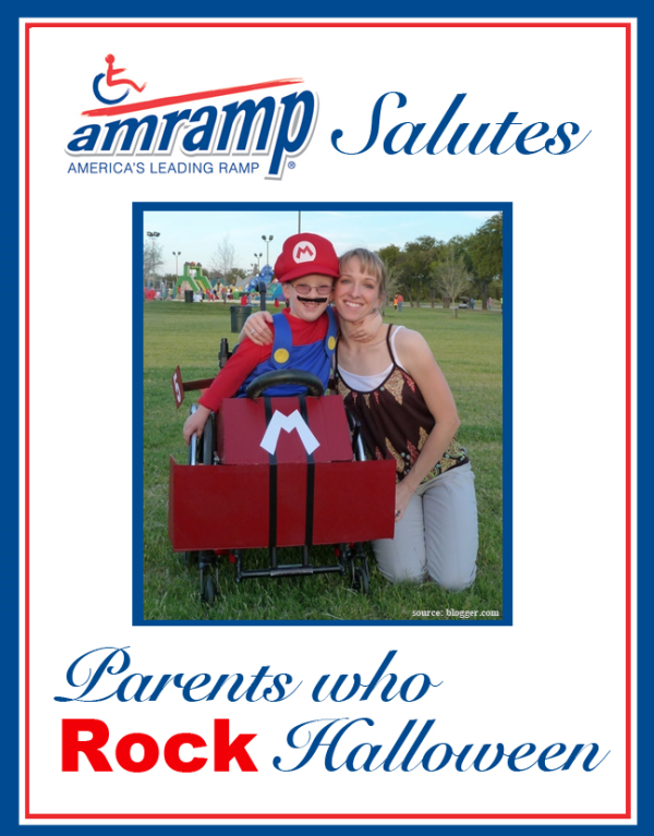 Amramp Salutes Parent Who Rock Halloween Award for Mario Wheelchair Halloween Costume