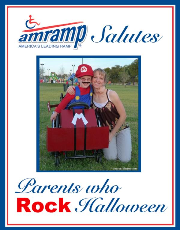 Amramp Salutes Parent Who Rock Halloween Award for Mario Wheelchair Halloween Costume