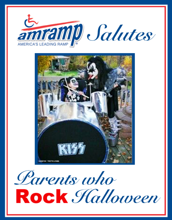 Amramp Salutes Parent Who Rock Halloween Award for Kiss Drummer Wheelchair Halloween Costume
