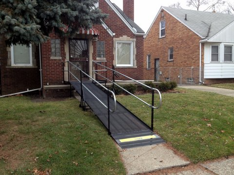 Amramp Wheelchair ramp for 8 year old girl caught in cross fire while riding her bike near her house