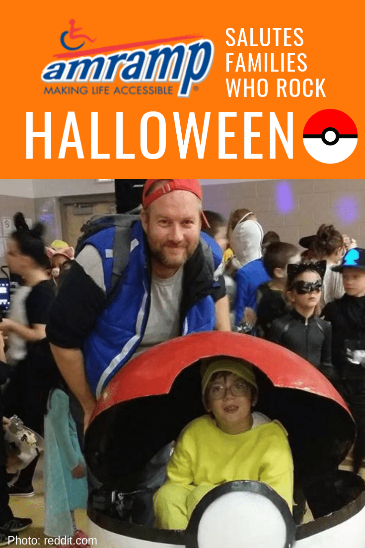 Amramp Wheelchair Costume AshPikachuPokeBall-min