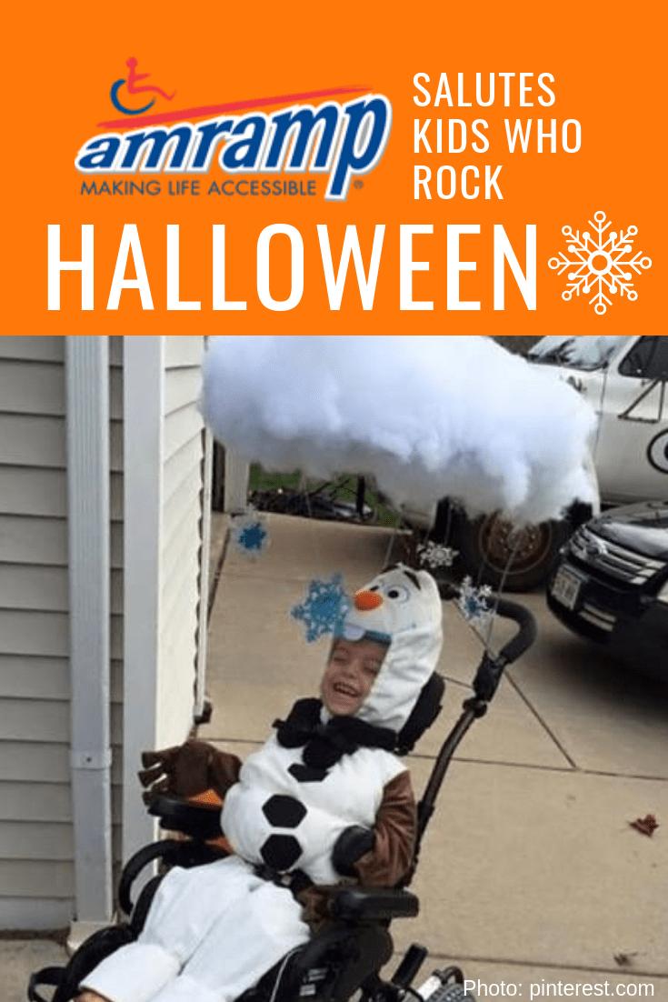 Amramp Wheelchair Costume OlafFrozen-min