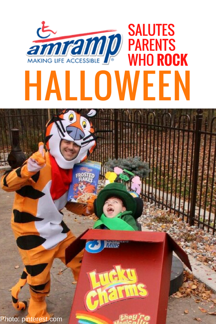 Amramp Wheelchair Costume Frosted Flakes x Lucky Charms
